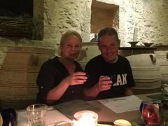 Olive oil tasting at Kapsaliana Village Hotel (Tjeerd) Tags: septemberholiday summeringreece greekhospitality janine tjeerd cheers oliveoiltasting greekholiday crete greece kapsalianavillagehotel kapsaliana tjeerdandjanine chefvasiliskleonidou holidayingreece masterofoliveoil masterclass goodhealth