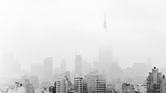 ... behind the fog ... (wolli s) Tags: ny nebel newyork empirestatebuilding fog usa us