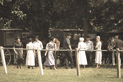 Mennonite Youth (MyImageJournal) Tags: mennonite church people oldtime country wagons horses