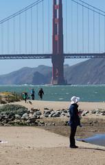 San Francisco, April, 2013 (Michael Dunn~!) Tags: bridge goldengatebridge marinadistrict photowalking photowalking20130414 sanfrancisco streetphotography suspensionbridge water