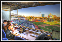RC_5595d-hdr (bjarne.winkler) Tags: river cats press box looking over third base home team dugout raley field sacramento ca
