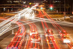 Busy intersection (raptoralex) Tags: intersection interstate10 phoenix arizona longexposure lighttrail traffic canon canon5d canon5dmkii