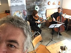 Selfie with Members of Ulster Orchestra at Loaf Cafe, Belfast #ulsterorchestra50 (John D McDonald) Tags: selfie self loafcafe loafbakeryandcafe loafcafeandbakery violin fiddle cello violoncello stringduo belfast northernireland ni ulster geotagged ulsterorchestra uo ulsterorchestra50 musicians music professionalmusicians iphone iphone6