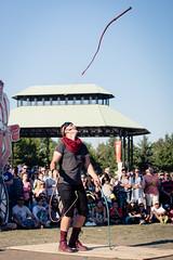 Buskerfest 2016 - Day 4 (afternoon) (MorboKat) Tags: toronto woodbinepark buskerfest busker busking streetperformer performer juggling juggler whip whipperformer whipjuggling sebwhipits circus circusperformer