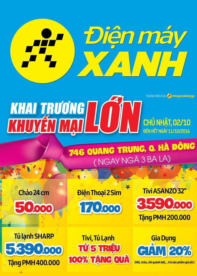 Khai trương siêu thị Điện máy XANH Hà Đông, Hà Nội