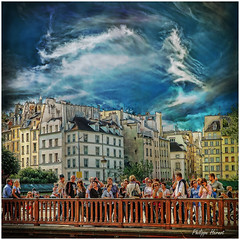 Pont au Double - Paris 2011 (Philippe Hernot) Tags: paris france square kodachrome 75 iledefrance notredamedeparis carr pontaudouble colorphotoaward philippehernot mygearandme rememberthatmomentlevel1