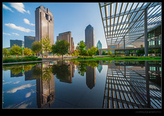 The District (chrisjonesfoto) Tags: sky reflection skyline clouds dallas flora patio chasetower lexus artsdistrict winspear fountainplace winspearoperahouse meyersoncenter sammonspark attpac chrisjonesfoto 1artsplaza
