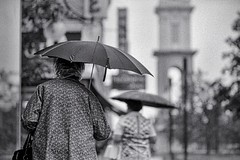 two umbrellas (streetshooter 45) Tags: film rain umbrella ditch candid keep streetphotos winogrand keep2 keep3 keep4 keep5 keep6 keep7 keep8 keep9 graphicgreg ditch2 ditch3 ditch6 ditch8 ditch9 ditch10 ditch4 ditch5 ditch7 countryphotographyworkshop