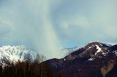 Snow cell over the mountains . . . Explored (JLS Photography - Alaska) Tags: mountain snow mountains nature weather alaska america landscape landscapes mountainpeaks lastfrontier alaskalandscape jlsphotographyalaska