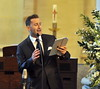 Paul Byrom, cousin of the bride, singing The wedding of model Aoife Cogan and rugby star Gordon D'Arcy, held at St. Macartan's Cathedral Monaghan, Ireland