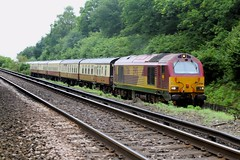 Skipped Stock Move (JohnGreyTurner) Tags: uk train br diesel transport engine rail railway hampshire locomotive skip 67 oakley basingstoke ews class67 worting