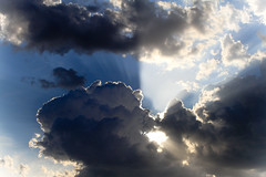 Rays from the Sky (Kay Martinez) Tags: blue sky cloud storm day cloudy kansas rays wichita