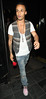 Aston Merrygold leaves the Rose Club London, England