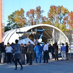 Engineers, Astronauts, media, VIPs, and SpaceTweeps gather for the Orion drop test!