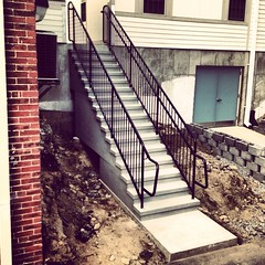 16 riser with commercial pipe railings
