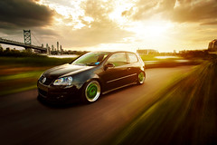 Marcos // MK5 GTI (Ronaldo.S) Tags: bridge motion green vw work movement nikon camden automotive rig flare roller philly gti f28 mkv meister 2035mm d700