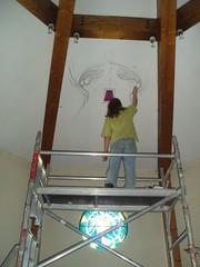 Preparing Ceiling Mural, St Anne's, Nuneaton (Aidan McRae Thomson) Tags: church catholic warwickshire stannes camphill nuneaton chapelend