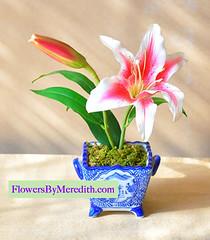 Flowers by Meredith silk flower arrangement
