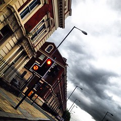 More going home! (Karen_O'D) Tags: city light sky urban cloud liverpool square traffic squareformat georgian merseyside liverpool08 iphoneography instagramapp uploaded:by=instagram