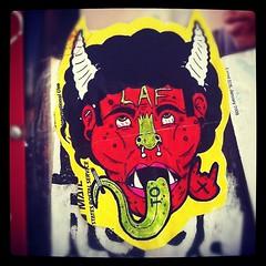 (billy craven) Tags: streetart chicago graffiti sticker 666 demon devil usps laf slaptag label228 uploaded:by=instagram