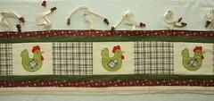bandô para cortina da cozinha (helena rosali) Tags: cortina para patchwork bordado apliqué bandô bandôgalinhas