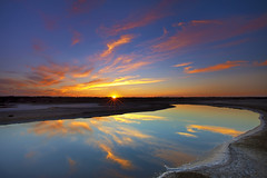 Sunset Reflections in Alviso......... (M. Shaw) Tags: california longexposure sunset reflection nature water night clouds canon sanjose clear alviso amazingcolors ndfilter 1635mmf28l mshaw 5dmark2 canoneos5dmarkll