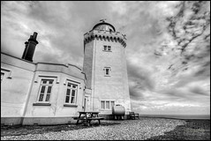 South Foreland Lighthouse. (Barry_Adams) Tags: england bw lighthouse white canon kent angle south wide sigma august cliffs national trust 1020mm tones hdr dover foreland 2012victorian