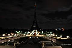 dark tower (stefano magon) Tags: city shadow sky cloud black paris tower night nikon europe nuvole eiffel 2012 citt d90