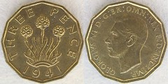 Threepence 1941 (Steve Mai) Tags: coin brass 1941 threepence georgevi