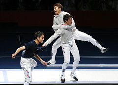Korea_London_Fencing_06 (KOREA.NET - Official page of the Republic of Korea) Tags: london football korea korean fencing olympic southkorea  rpublique 2012    republicofkorea teamkorea       rpubliquedecore cir republiquedecoree    2012londonolympicgames