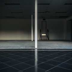 Room (Dr Abbate) Tags: reflection shop architecture square interior empty room pillar tiles showroom column outofbusiness