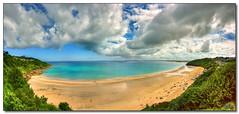 Carbis Bay (rjt208) Tags: sea england panorama southwest beach bay coast seaside sand cornwall panoramic coastline cornish godrevy carbis hayle carbisbay rjt208 klernow