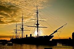 HMS WARRIOR (Ugborough Exile) Tags: uk england nikon ships hampshire portsmouth warrior royalnavy d80 flickrsbest panoramafotográfico