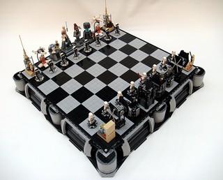 LEGO 玩家自製「星際大戰」舊版三部曲西洋棋盤