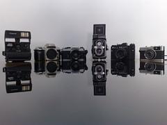 Equipamento (Viniasp) Tags: camera trip polaroid nikon olympus yashica cameraporn