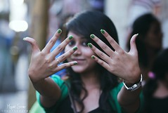 Nail polish is something that every woman should have time for. [EXPLORE] Aug 9 2012 (Mayank Sharma renewed :D :D) Tags: portrait india blur color green girl hair fun friend hand market bokeh nail watch fingers bangalore polish nails brigade ploshinail