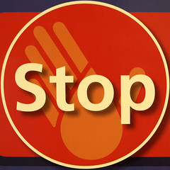 Stop (chrisinplymouth) Tags: red sign circle word stop round squaredcircle squircle hygeine langeng onewordstop cw69x chrisinplymouth