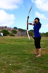target practice (NO NYME) Tags: hawaii archery 2012 kokohead