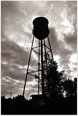 Water Tower (Stella Blu) Tags: canada silhouette vertical sepia rural watertower alberta gleichen stellablu 15challengeswinner thechallengefactory herowinner storybookwinner pregamewinner gamesweepwinner