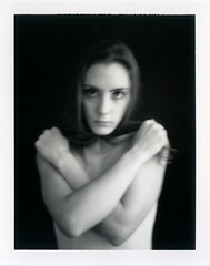 (maneeacc) Tags: portrait blackandwhite hair polaroid fuji 600se maneeacc 127mm 100b broncolor