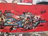 Belleville Zoo Project 8 (Détails) (fvib'r) Tags: red streetart rouge graffiti belleville paintedwalls zooproject murspeints