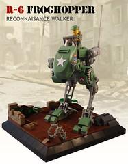 R-6 Froghopper (JonHall18) Tags: army lego military walker ww2 mech moc dieselpunk
