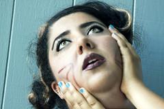sister bonding (Negin Tootian) Tags: blue portrait cat self eyes makeup highlights