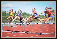 Competition is fierce,1 (bent.christiansen) Tags: girls girl sport denmark athletics jump jumping nikon danmark trackfield trackandfield decathlon tracknfield ballerup nikond5000