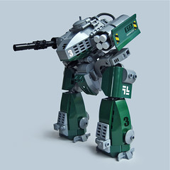 Tiinusu ST3 - Ground Type (Fredoichi) Tags: robot lego space military walker micro mecha mech biped microscale fredoichi battletechish