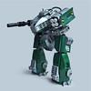 Tiinusu ST3 - Ground Type (Fredoichi) Tags: robot lego space military walker micro mecha mech biped microscale fredoichi battletechish