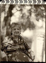 Melba McCurdy (Dr. RawheaD) Tags: grandma people speed polaroid dof graphic grandmother kodak bokeh idaho type55 f25 melba aero graflex pocatello mccurdy ektar pacemaker 178mm