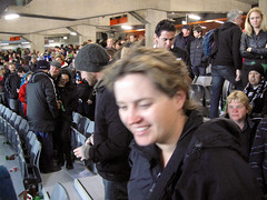 Bledisloe Cup, New Zealand Vs Australia, Eden Park (russelljsmith) Tags: red newzealand people cute fleur girl pretty rugby edenpark australia auckland jacket cap allblacks 2012 bledisloecup 77285mm
