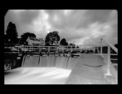 Fort Augustus Locks, Scotland. (dkalise) Tags: uk blackandwhite water scotland canal highlands nikon long exposure fort lock nd loch augustus ness caledonian cokin ndgrad d5100