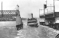 SS Karingal passing thru Gladesville Bridge (Canada Bay Connections) Tags: bridge ferry bridges australia newsouthwales ferries parramattariver gladesvillebridge karingal canadabay cityofcanadabay ferriesacrossaustralia sskaringal